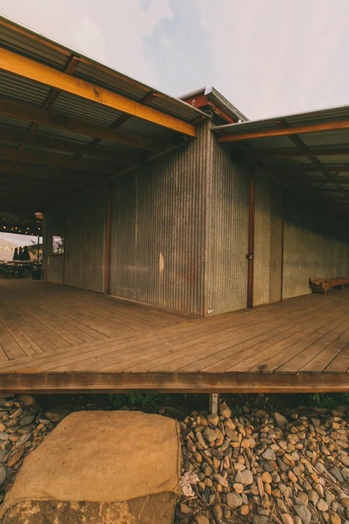 The Farm - Corner of decks outside