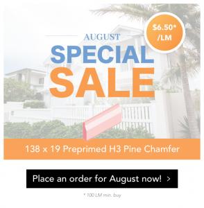 138 x 19 Preprimed H3 Pine Chamfer